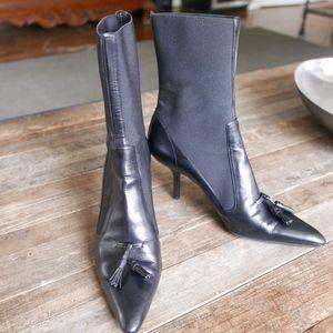 Yves Saint Laurent black booties